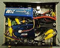 Name: DSC00610.jpg Views: 512 Size: 87.1 KB Description: internals - mess of wires... for now.. batt, batt charger, vid splitter, rc tx