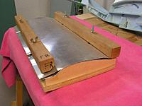 """Name: WingBakeJig2.jpg Views: 231 Size: 84.8 KB Description: A slightly different design that uses a thick (1/2"""") base plate the other parts are attached to.  Sheet metal is used to sandwich the FFF for baking."""