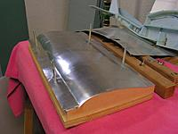 Name: WingBakeJig3.jpg Views: 235 Size: 79.6 KB Description: In this example the sheet metal has been pressed down on both the leading and trailing edges and I think the sheet metal is aluminum.