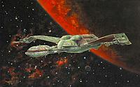 Name: StarTrekKlingonBirdofPrey.jpg Views: 85 Size: 60.0 KB Description: Said to be an inspiration for the Boeing design team when the Bird of Prey was still just an idea in their minds.  The influence is obvious in this view.