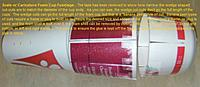 """Name: FuselageCupMatch2.jpg Views: 935 Size: 76.2 KB Description: Showing a few details of how the foam cup fuselage """"skin"""" is made.  The first objective is to match the diameters (top and bottom) of the cups."""