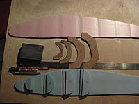 Name: TitanCloneFuselage2.jpg Views: 144 Size: 150.1 KB Description: Starting to make a copy of the Titan toy glider fuselage using recycled packaging cardboard to make fuselage rib templates.