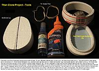 Name: T001.JPG Views: 196 Size: 420.7 KB Description: The basic jigs, or fixtures concept for making rib rings for a model aircraft fuselage.  A few notes about the process and how to keep urethane glue where you need it.