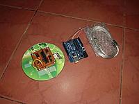 "Name: P1013495.jpg Views: 193 Size: 85.8 KB Description: Main PCB board 2"" x 2""  Arduino Uno (with ATMEGA 328)  Wii Mo+ (clone)  Wii Nunchuk (clone )  MultiWiiV1_7  software CD  USB cable"