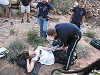 Name: Fentanyl injection.jpg Views: 1435 Size: 138.6 KB Description: I had been laying here for about 3 hours until the helicopter medics arrived.  They injected me with 10mg of fentanyl before they hoisted me up and out of the canyon.