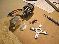 Name: Motor Mount Assembly 1.jpg Views: 103 Size: 90.0 KB Description: Use the cross-spacer to mark the holes on the top of the stock mount.