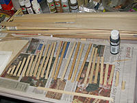 Name: tm94b.jpg Views: 56 Size: 186.3 KB Description: Painting the forecastle planks black to give a little more highlight.