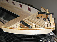 Name: tm101b.jpg Views: 57 Size: 171.7 KB Description: Getting a taste for what the forecastle will look like with cannons.