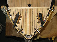 Name: tm107b.jpg Views: 74 Size: 177.3 KB Description: Four swivel guns on the forecastle.  Now the Theresa Marie has fangs and teeth.