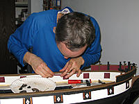Name: tm150b.jpg Views: 74 Size: 163.9 KB Description: Gluing in the pin racks.