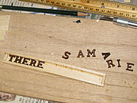 Name: tm151b.jpg Views: 66 Size: 203.6 KB Description: 1/2 inch wooden letters from Woodenletters.biz for the nameplate.