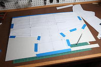 Name: IMG_1907.jpg Views: 285 Size: 136.0 KB Description: I taped it all to the foam board and cut.  The foam paper lifts/tears easy so be careful with the tape.