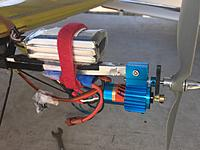 Name: IMG_3885.JPG Views: 5 Size: 1.97 MB Description: The HIMAX power system is a very good one but, the rather small diameter of the Inrunner and gearbox ratio does not allow for long flights using a small capacity battery pack.
