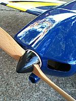 """Name: 540 Spinner.jpg Views: 51 Size: 143.0 KB Description: HK 1.5"""" spinner with aluminum back plate."""