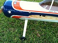 Name: IMG_0531.jpg Views: 68 Size: 268.4 KB Description: Homemade Aluminum LG for my 30cc Yak 55M.