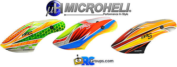 New Microheli Canopies For Your Blade 130S