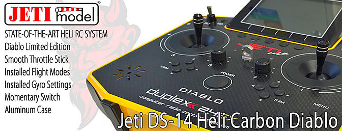 jeti ds 14 heli carbon diablo limited edition radio system. Black Bedroom Furniture Sets. Home Design Ideas