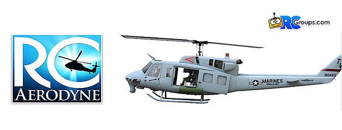 RC Aerodyne UH-1N Iroquois CH-135 Twin Huey