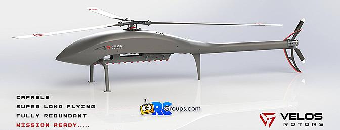 Velos Rotors UAV Helicopter Platform