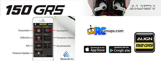 150 GRS Flybarless System App Interface