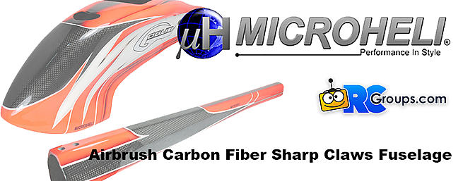 MicroHeli Carbon Fiber Sharp Claws Fuselage for Goblin 500