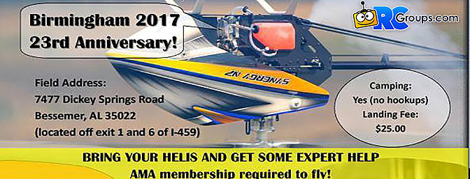 Birmingham 2017 - 23nd Anniversary! Heli Fly-In
