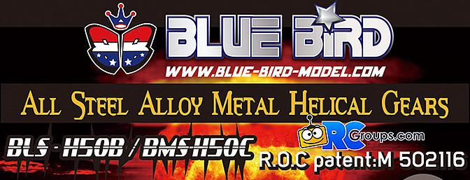 BlueBird - Helical Gear Servos BLS-H50C/BLS-H50B