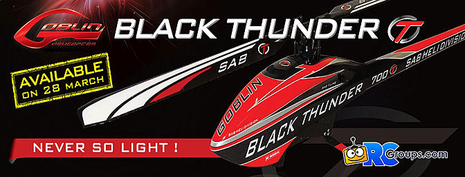 SAB Goblin Black Thunder T 700 Class Helicopter
