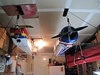 Name: Plane_storage_1.jpg Views: 84 Size: 70.6 KB Description: Bicycle hoist for the big boys.  :-)