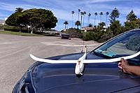 Name: XF-706 Glider Mods--Progress in Profile, #3   It just got windy, gotta hold it still!?--3-15-19@.jpg Views: 3 Size: 258.5 KB Description: Okay...wind just picked up and almost lifted it off my car's hood!