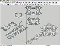 Name: Quadcopter.jpg Views: 282 Size: 104.2 KB Description: 3D model and 2D parts layout