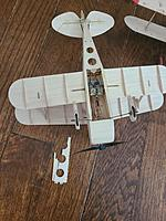 Name: 20210327_144125.jpg Views: 10 Size: 4.60 MB Description: Here you can see how easy the battery cover would be to fix. Just a thin sheet of balsa and you can use the part from the kit as a pattern