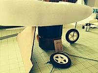 Name: OSK33.jpg Views: 91 Size: 99.5 KB Description: Just setting on the rear gear template, checking for a good fit on the nose gear.