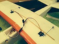 Name: OSK57.jpg Views: 128 Size: 100.7 KB Description: Aileron hinges installed, control horns and servo linkage.