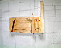 Name: SANY0022.jpg Views: 283 Size: 167.3 KB Description: The two darker woods each side of the fin box are ply to hepl prevent adverse wear on the softer balsa