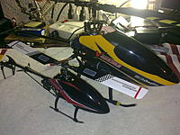 Name: 09052011479.jpg Views: 66 Size: 235.3 KB Description: The new addition to my heli family, along with my #1, both are getting ready for a motor upgrade.