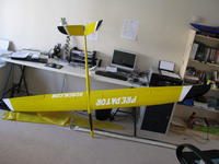 Name: IMG_0469.jpg Views: 189 Size: 69.8 KB Description: My Predator 3m F3F glider in my office in Brighton, in the UK.  Very nice model!