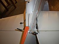 Name: connecting aft hook ups 003.jpg Views: 162 Size: 106.5 KB Description: tucked antenna wire under the aft wheel shroud