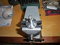 """Name: prop hub 003.jpg Views: 159 Size: 172.9 KB Description: then placed both in the vice with the 3/8"""" drill bit through both"""