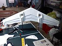 Name: WingBoom.jpg Views: 291 Size: 72.2 KB Description: Main wing with booms attached.