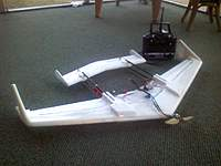 """Name: After.jpg Views: 330 Size: 74.8 KB Description: After the first test. Although it took several bumps and 1 nose in hard thump, the only """"damage was the tape holding on the ESC came louse. Not only will it fly, it is very strong and durable for $tree foam. This was a good build."""