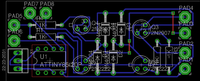 """Name: Motor_rev_LD_v4.png Views: 34 Size: 50.9 KB Description: After some tweeking, i got a 1""""x2.4"""" single sided board with only 2 jumpers. (in RED)"""