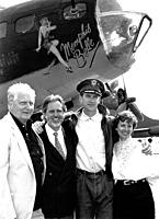 Name: SKMBT_C20312051705550.jpg Views: 183 Size: 120.3 KB Description: Robert Morgan (left) original pilot of Memphis Belle