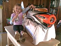 Name: IMG_1642.jpg Views: 388 Size: 218.1 KB Description: The model as it came out of the box. My daughter provides some perspective for size.