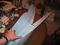 Name: foldingitUP.jpg Views: 391 Size: 208.9 KB Description: Folding the foam into the shape of TITANIC'S hull.