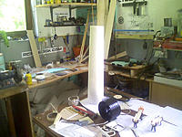 Name: PIC-0268.jpg Views: 109 Size: 86.3 KB Description: Model for exaust tube, made by hotwire from styrofoam blocks.. exit diameter 85% FSA