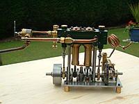 Name: P: VALVE ENGINE 2.jpg Views: 116 Size: 137.9 KB Description: Twin cylinder piston valve engine based on A.J. Reeves BORDERER.