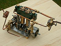 Name: P:VALVE ENGINE 4.jpg Views: 84 Size: 145.9 KB Description: Engine is scratch built from stock material with the reversing and speed control valve which can send the steam into the engine for forward or into the exhaust to reverse..