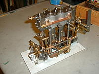 """Name: Pump Drive:4.jpg Views: 147 Size: 156.5 KB Description: My own idea for a boiler feed pump, made from the scrap box. The engine is a very difficult model to make with hundreds of parts and poor drawings at 1"""" bore x 7/8"""" stroke a big boiler is required."""