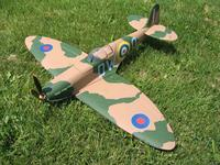 Name: Spitfire.jpg Views: 169 Size: 143.0 KB Description: GWS Spitfire. This actually flew well on the brushed 350 motor.